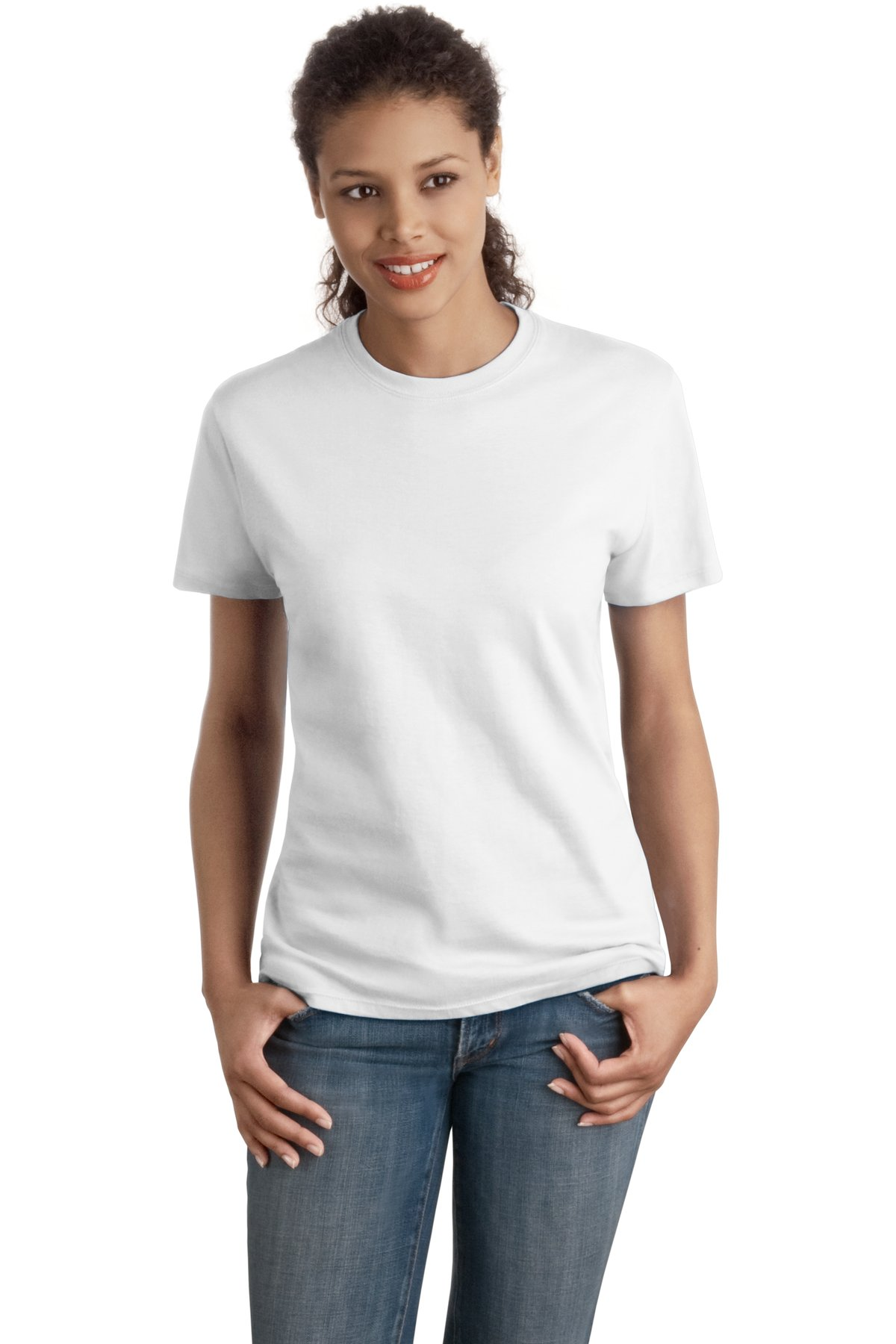 Hanes Ladies Nano T Cotton T Shirt Sl04 My Deals Llc
